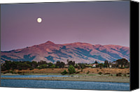 Mountain Scene Canvas Prints - Moonrise Canvas Print by Sean Duan