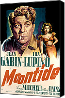 Fod Canvas Prints - Moontide, Jean Gabin, Ida Lupino, 1942 Canvas Print by Everett