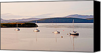 Yachts Canvas Prints - Moored in a row Canvas Print by Chris Thaxter