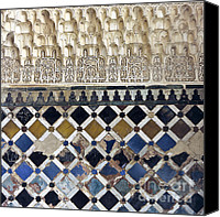 Mosaic Canvas Prints - Moorish Wall Mosaic Canvas Print by Heiko Koehrer-Wagner