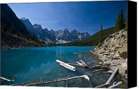 Land Feature Canvas Prints - Moraine Lake And The Valley Of The Ten Canvas Print by Zoltan Kenwell