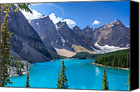 Alpine Canvas Prints - Moraine Lake - Banff National Park Canvas Print by Matt Dobson