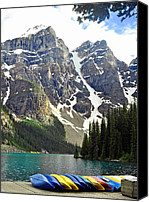 Best Canvas Prints - Moraine Lake Canvas Print by Lisa  Phillips