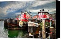 New England Canvas Prints - Moran Towing Tug Boats Canvas Print by Robert Clifford