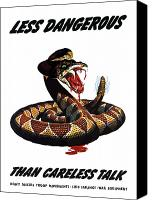 Talk Canvas Prints - More Dangerous Than A Rattlesnake Canvas Print by War Is Hell Store
