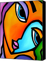 Faces Drawings Canvas Prints - More Than Enough - Abstract Pop Art by Fidostudio Canvas Print by Tom Fedro - Fidostudio