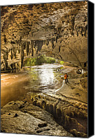Moria Canvas Prints - Moria Gate Arch And Oparara River Canvas Print by Colin Monteath