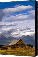 Grand Teton Canvas Prints - Mormon Barn Morning Canvas Print by Joseph Rossbach