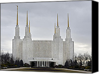 Washington Dc Canvas Prints - Mormon Temple - Kensington Maryland Canvas Print by Brendan Reals