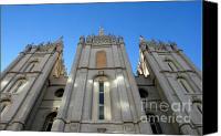 Angel Moroni Canvas Prints - Mormon Temple Canvas Print by David Lee Thompson