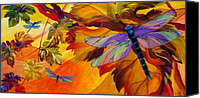 Dragonfly Canvas Prints - Morning Dawn Canvas Print by Karen Dukes