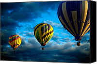 Festival Canvas Prints - Morning Flight Hot Air Balloons Canvas Print by Bob Orsillo