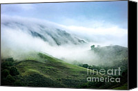 Textured Landscape Canvas Prints - Morning Fog Canvas Print by Ellen Cotton