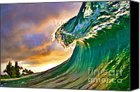 Surf Art Canvas Prints - Morning Glow Canvas Print by Paul Topp