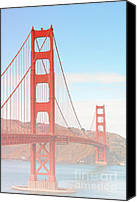 Art Deco Canvas Prints - Morning has broken - Golden Gate Bridge San Francisco Canvas Print by Christine Till
