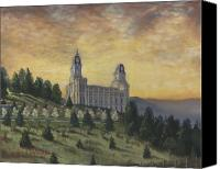 Mormon Painting Canvas Prints - Morning he came again into the Temple Canvas Print by Jeff Brimley