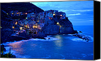 Wine Train Canvas Prints - Morning in Manarola Canvas Print by Barbara Walsh