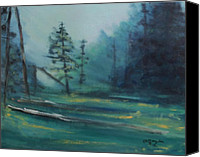 Rafael Gonzales Canvas Prints - Morning In The Forest Canvas Print by Rafael Gonzales
