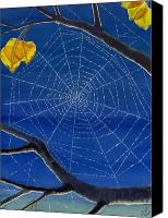 Spider Web Canvas Prints - Morning Magic Canvas Print by Catherine G McElroy
