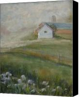 Rural Scenes Pastels Canvas Prints - Morning Mercy Canvas Print by Wendie Thompson