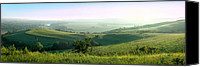 Prairie Photography Canvas Prints - Morning Mist - Kansas River Valley Canvas Print by Rod Seel