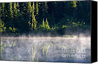Alpine Canvas Prints - Morning Mist Canvas Print by Mike  Dawson