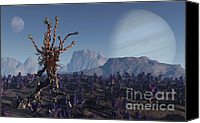 Alien Planets Canvas Prints - Morning Stroll Canvas Print by Richard Rizzo
