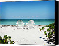 Tropical Beach Canvas Prints - Morning View Canvas Print by Chris Andruskiewicz