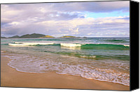Van Dyke Canvas Prints - Morning View of Jost Van Dyke Canvas Print by Roupen  Baker