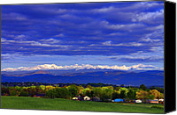 Mountain View Canvas Prints - Morning View Canvas Print by Scott Mahon