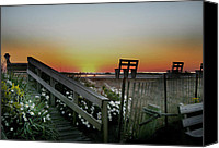 Benches Canvas Prints - Morning View  Canvas Print by Skip Willits