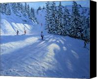 Atmospheric Painting Canvas Prints - Morzine ski run Canvas Print by Andrew Macara
