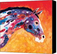 Abstract Equine Canvas Prints - Mosaic Appaloosa II Canvas Print by Bob Coonts