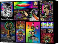 Goth Mixed Media Canvas Prints - Mosaic of RetroCollage I Canvas Print by Eric Edelman