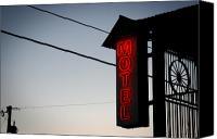 Ok Canvas Prints - Motel Canvas Print by Shane Rees