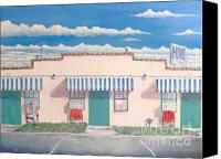 Photorealism Canvas Prints - Motel Six . 1989 Canvas Print by Wingsdomain Art and Photography