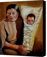 Mother Canvas Prints - Mother and Son Canvas Print by Joni McPherson