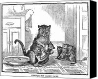 Responsibility Canvas Prints - Mother Cat, 1880 Canvas Print by Granger