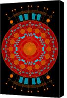 Extraterrestrial Canvas Prints - Mother color Canvas Print by Dean Caminiti