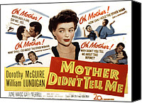 1950s Poster Art Canvas Prints - Mother Didnt Tell Me, Dorothy Mcguire Canvas Print by Everett