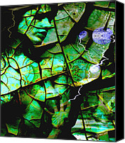 Storm Mixed Media Canvas Prints - Mother Earth Canvas Print by Yvon -aka- Yanieck  Mariani