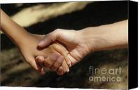 Responsibility Canvas Prints - Mother holding sons hand Canvas Print by Sami Sarkis