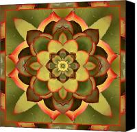 Spiritual. Geometric Canvas Prints - Mother Lotus Canvas Print by Bell And Todd