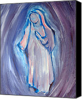 Diety Canvas Prints - MOTHER MARY Essence Canvas Print by Tara Moorman