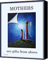 Angel Pictures Canvas Prints - Mothers Are Gifts From Above by Shawna Erback Canvas Print by Shawna Erback