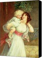 Caress Canvas Prints - Mothers Darling Canvas Print by Frederick Morgan
