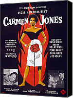 Movie Posters Canvas Prints - Motion Picture Poster For Carmen Jones Canvas Print by Everett