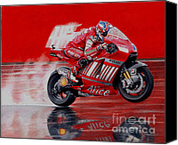 Motogp Canvas Prints - motoGP alice ducati Canvas Print by Raoul Alburg