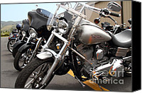 American Motocycle Canvas Prints - Motorcycle Row 7d15092 Canvas Print by Wingsdomain Art and Photography