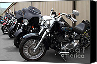 American Motocycle Canvas Prints - Motorcycle Row 7d15093 Canvas Print by Wingsdomain Art and Photography